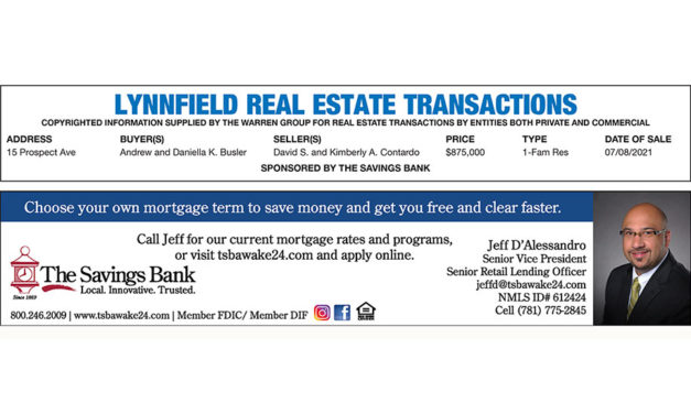 Lynnfield Real Estate Transactions published July 28, 2021