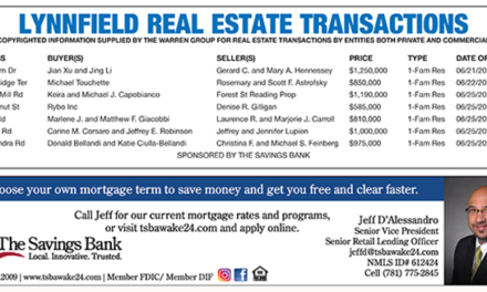 Lynnfield Real Estate Transactions published July 14, 2021
