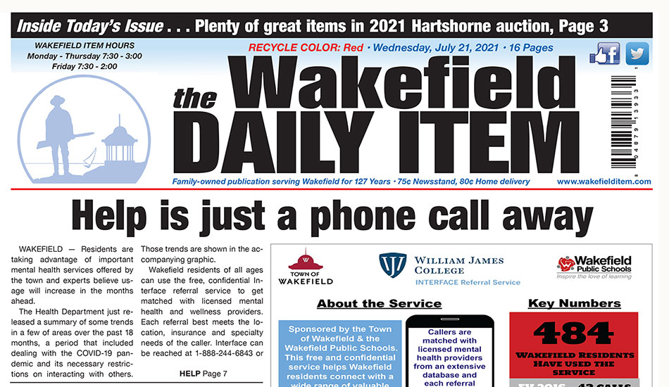 Front Page: July 21, 2021
