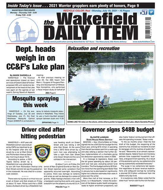 Front Page: July 19, 2021