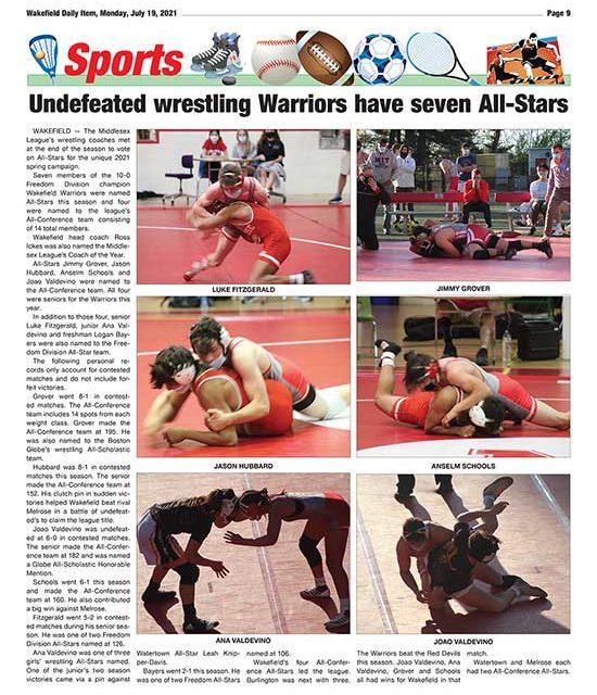 Sports Page: July 19, 2021