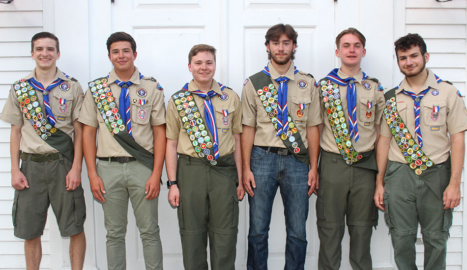 Six Eagle Scouts praised for community service projects